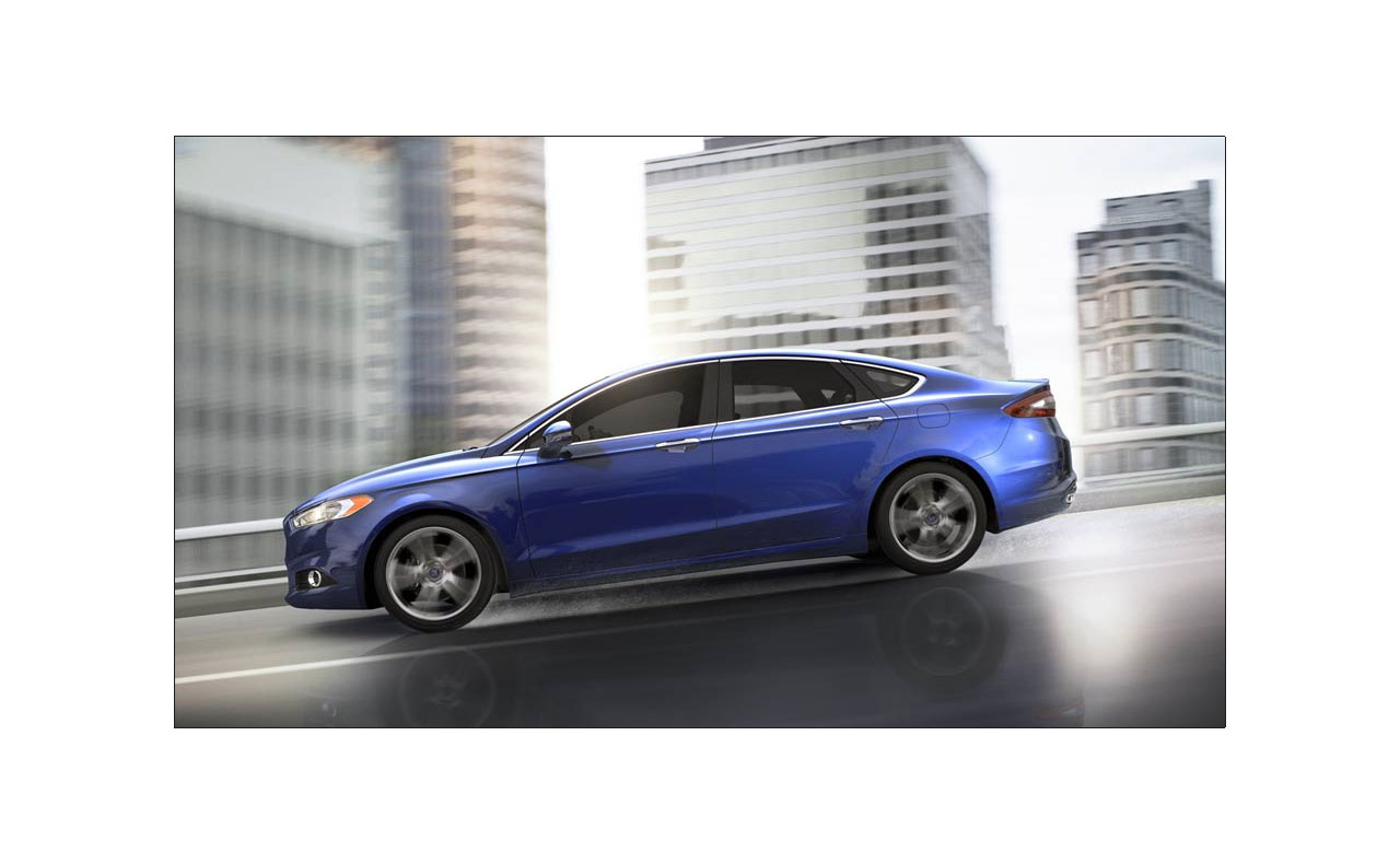 2016 ford fusion exterior blue rims doors