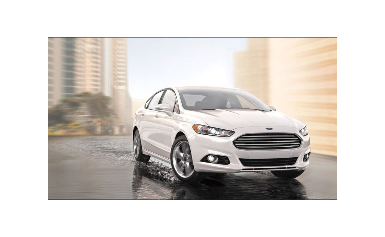 2016 ford fusion exterior white grille hood