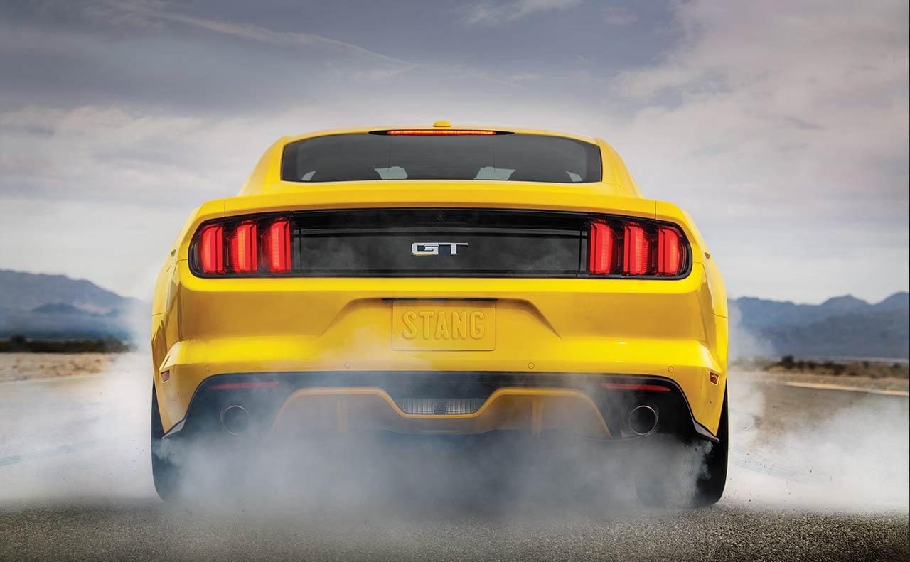 ford mustang exterior yellow