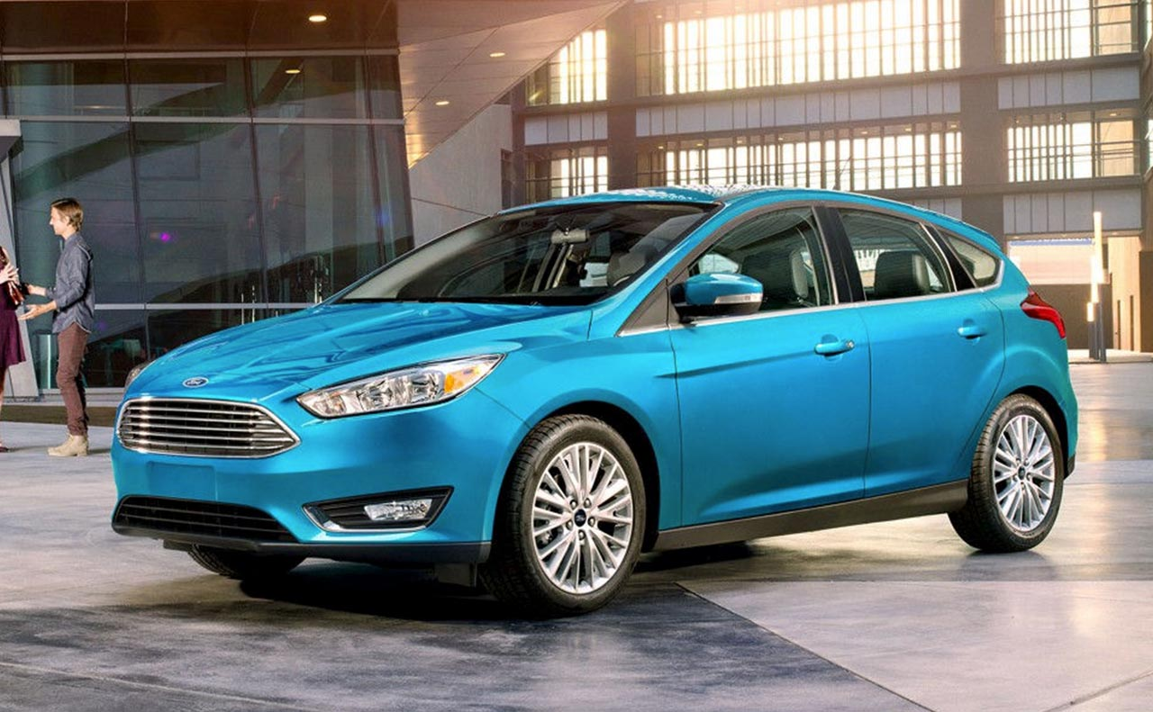 2017 ford focus exterior blue driver
