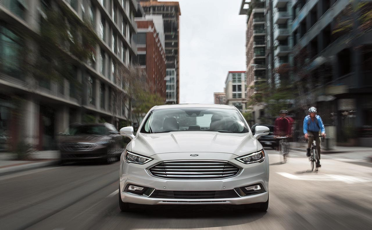 2018 ford fusion exterior white grille