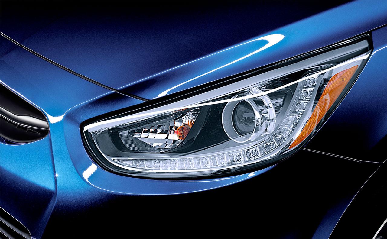 2016 hyundai accent exterior head light headlight
