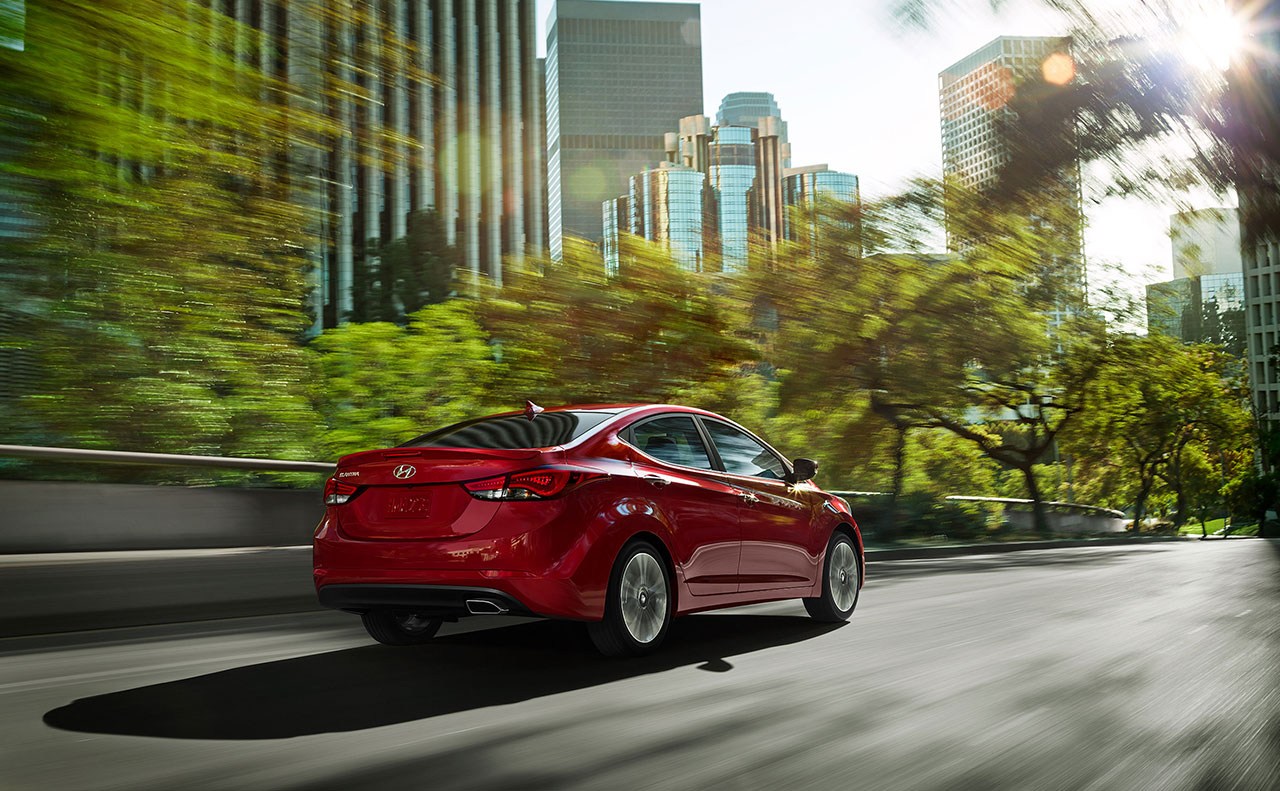 2016 hyundai elantra exterior red motion