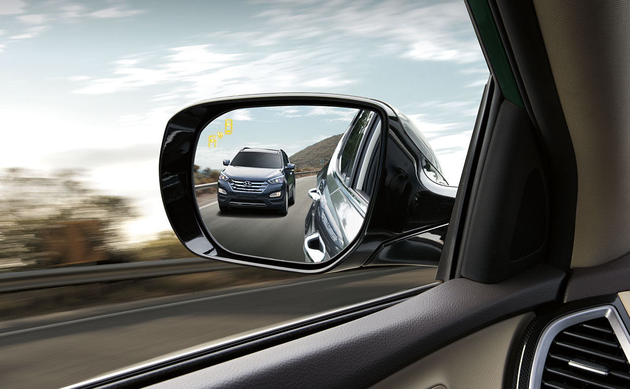 2016 hyundai santa sale exterior rear view mirror