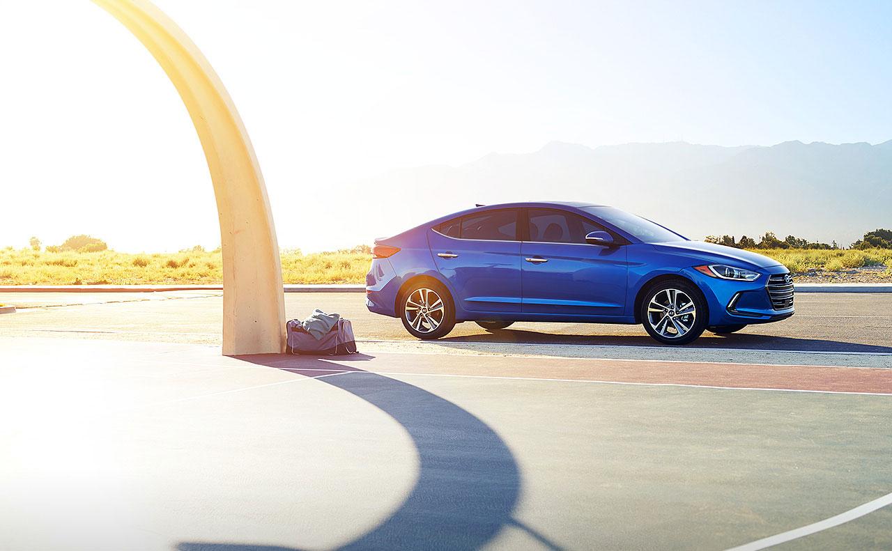 2017 hyundai elantra exterior blue motion drive