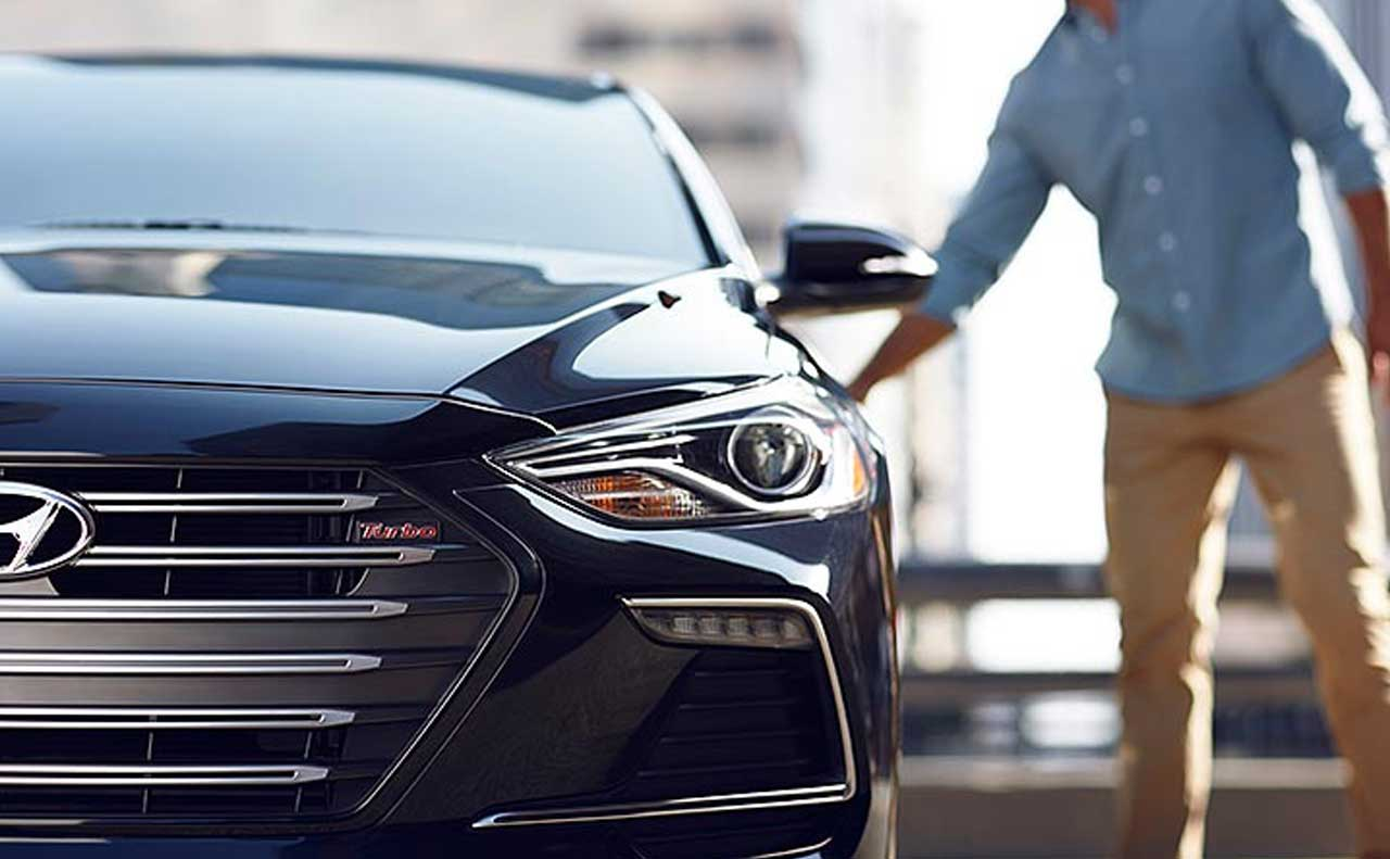 2017 hyundai elantra sale exterior blue front turbo