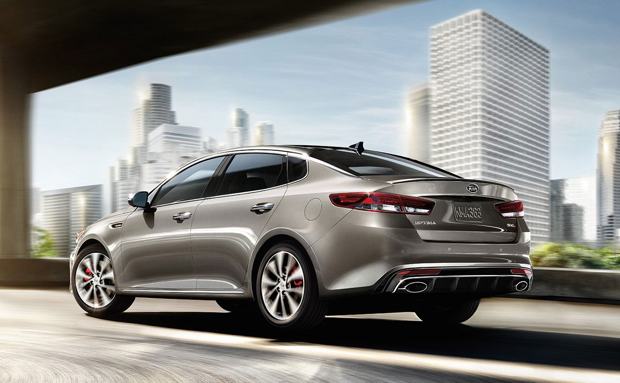 2016 kia optima exterior motion rear view tail