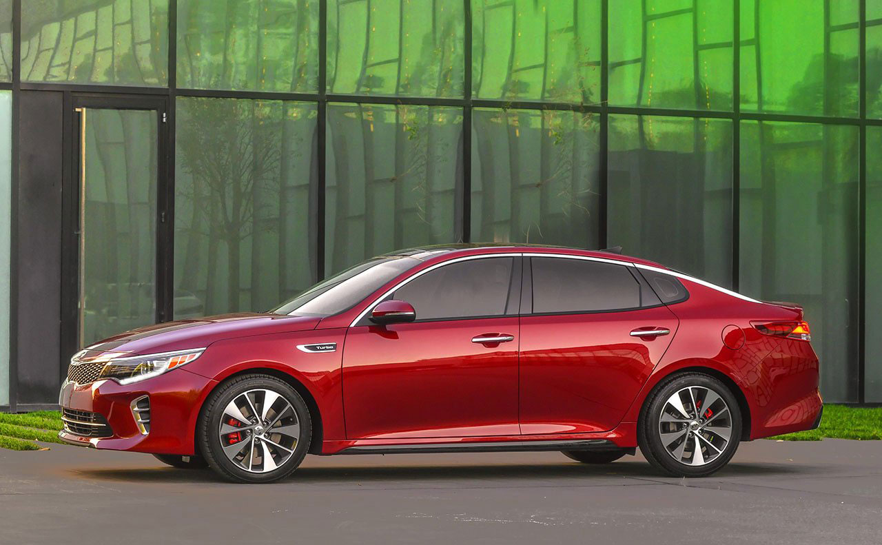2016 kia optima exterior red driver side