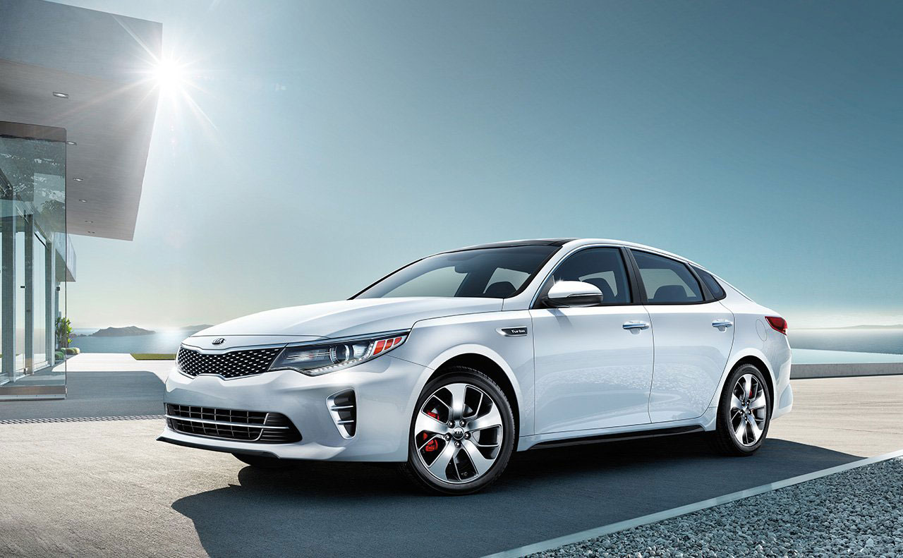 2016 kia optima exterior white brakes side windows lights