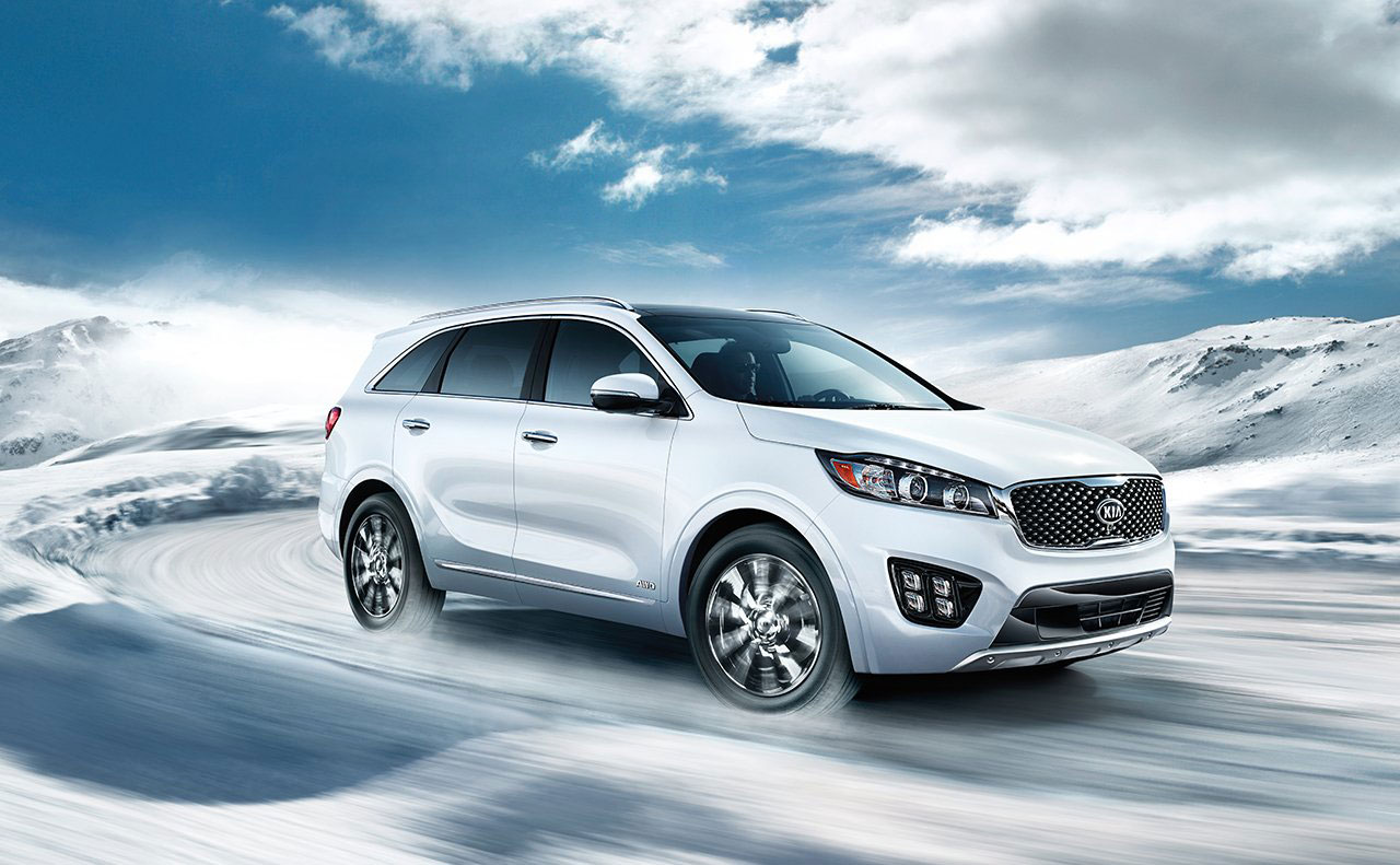 2017 kia sorento exterior white right side motion