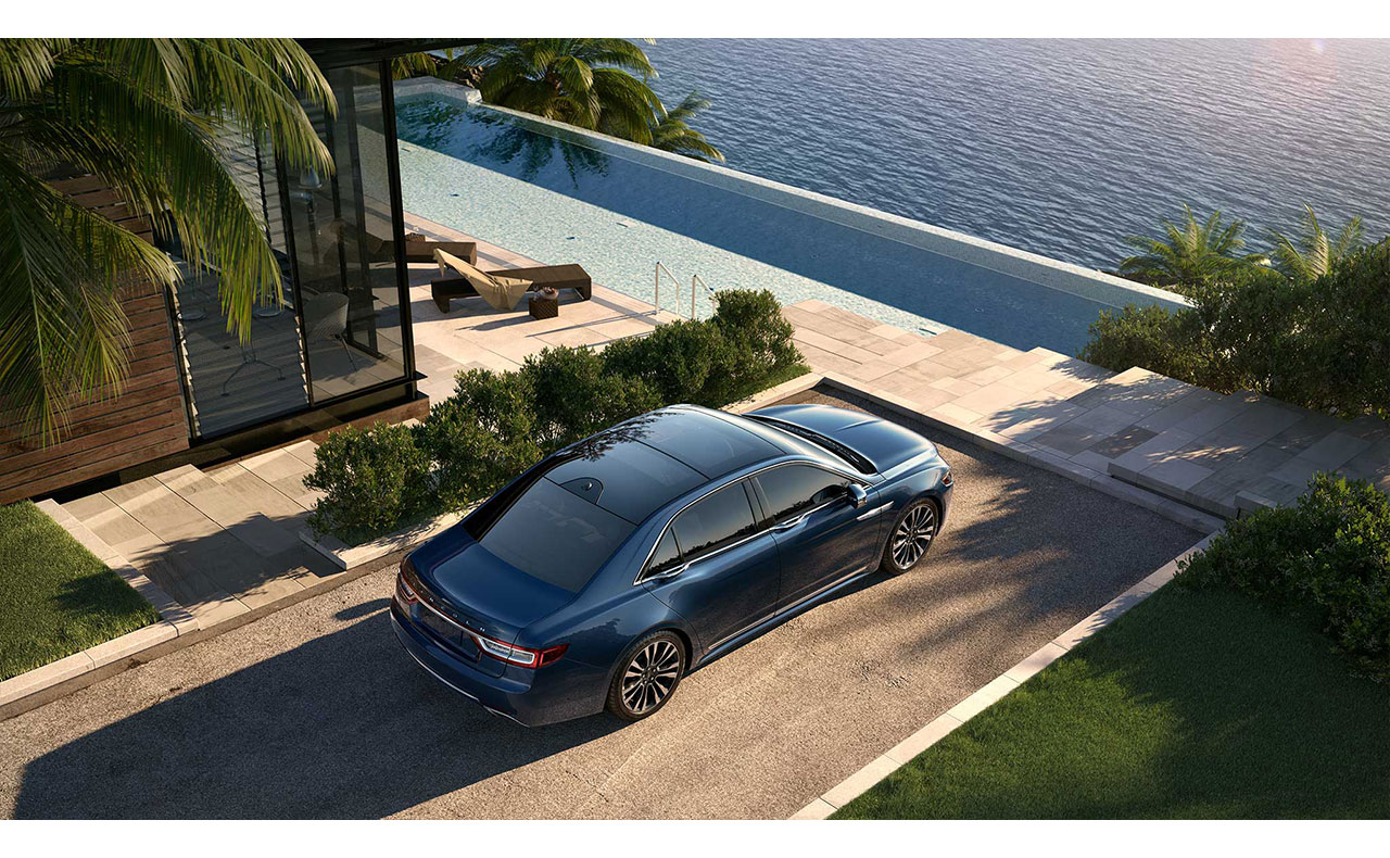 2017 lincoln continental exterior blue roof rims