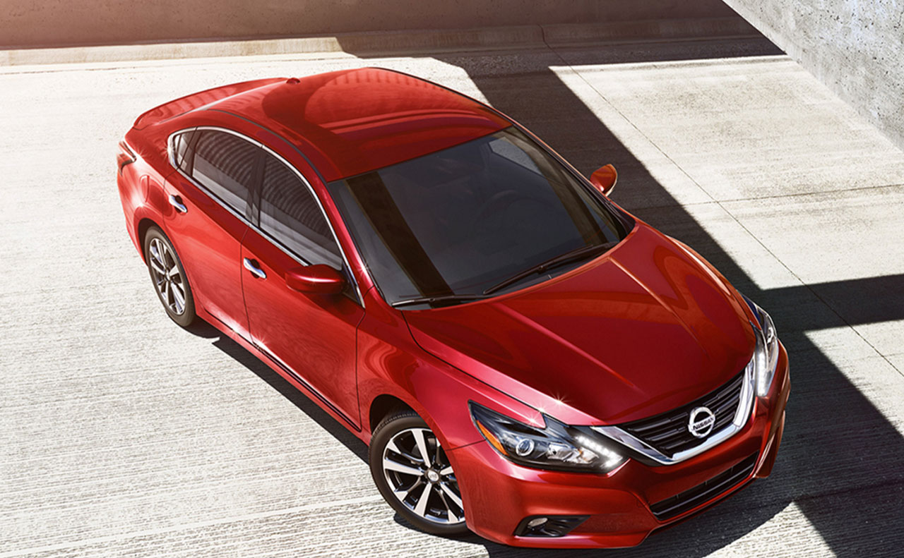 2016 nissan altima exterior red hood overview windshield