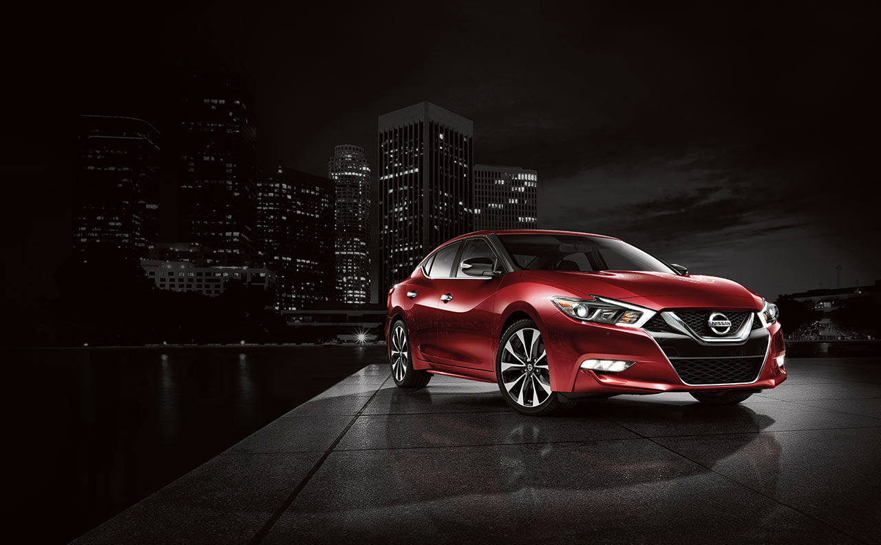 2016 nissan maxima exterior front red grille rims