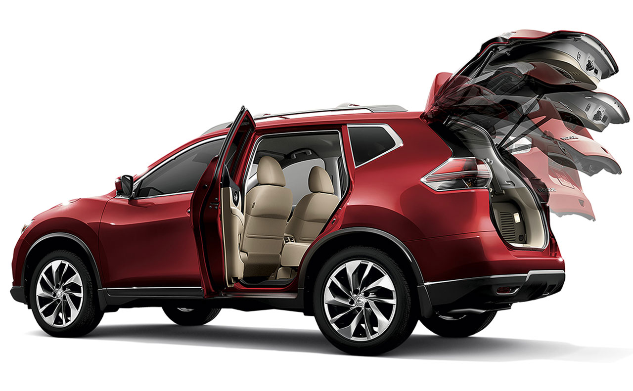 2016 nissan rogue exterior hatch lift door open