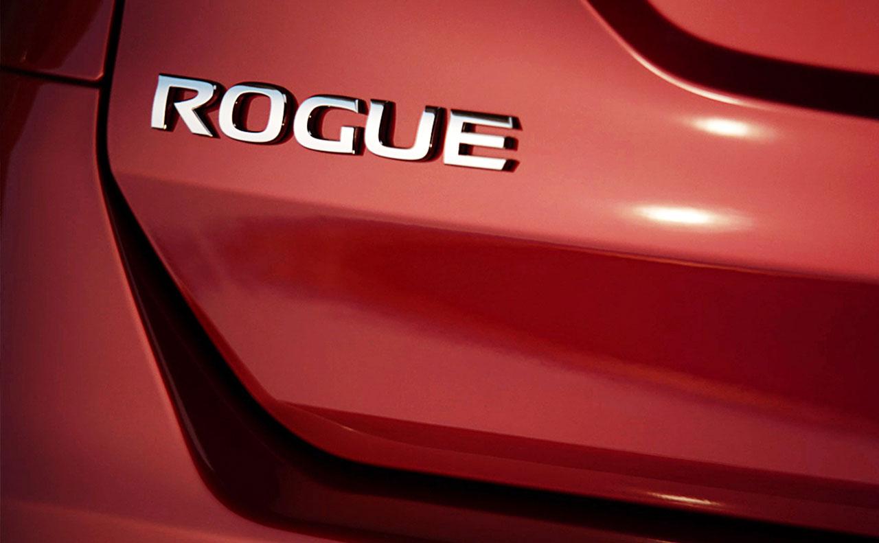 2016 nissan rogue exterior logo red silver