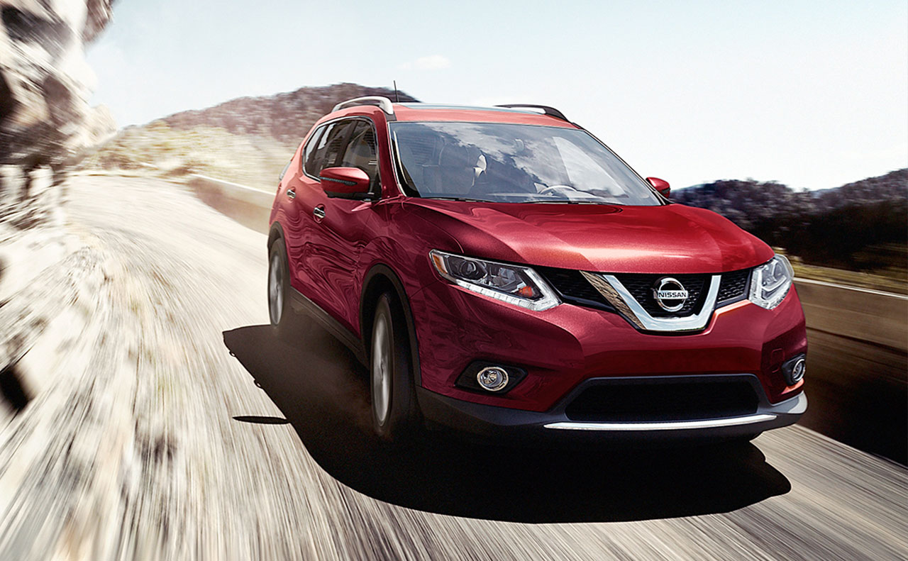 2016 nissan rogue exterior red hood front motion