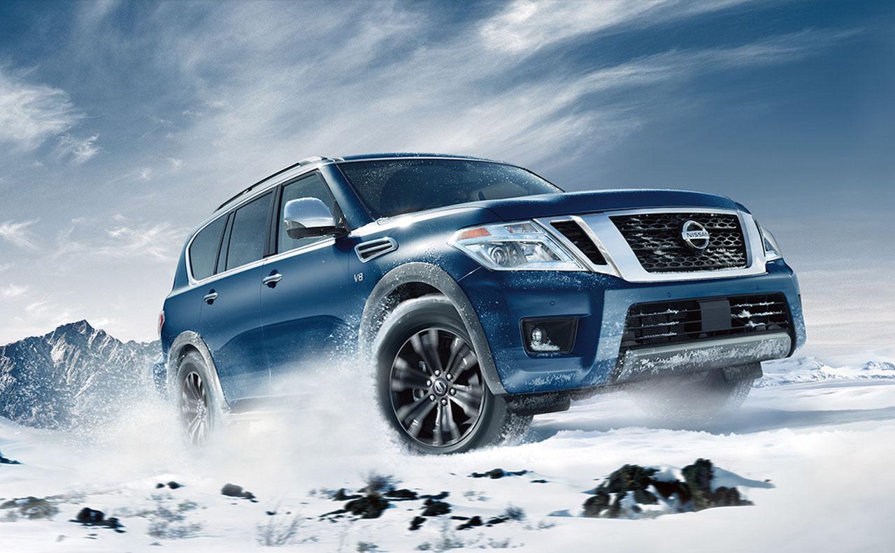 2017 nissan armada exterior blue grille windows rims wheels