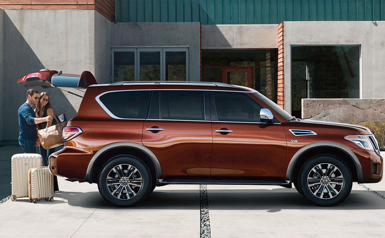 2017 nissan armada exterior orange doors windows rims wheels