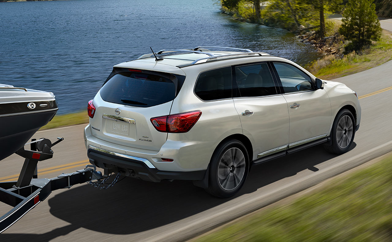 2017 nissan pathfinder exterior towing capacity pearl white