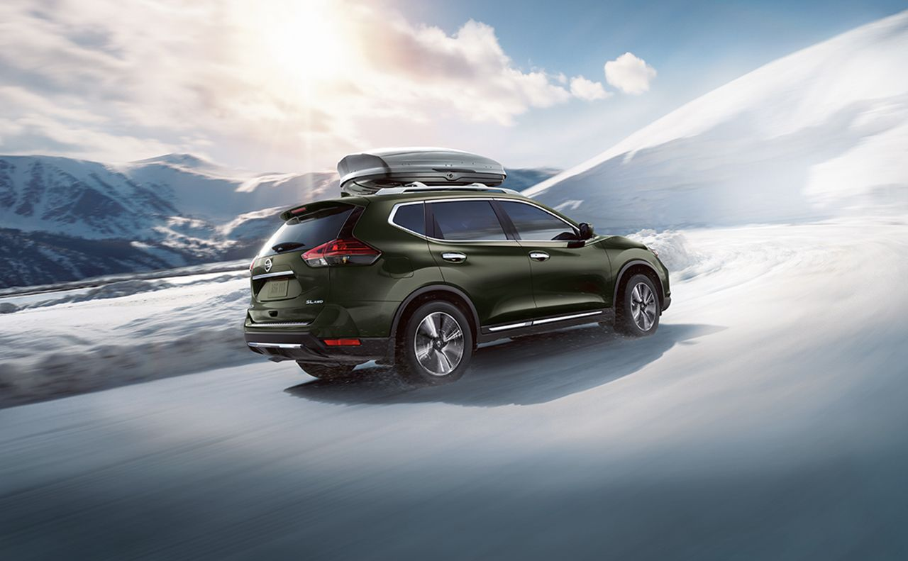 2017 nissan rogue exterior green snow up