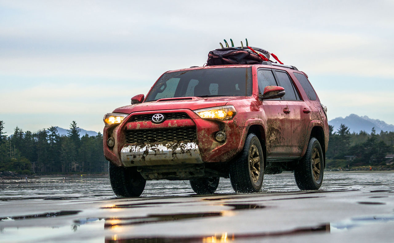 2016 toyota 4runner exterior beach mud water-red