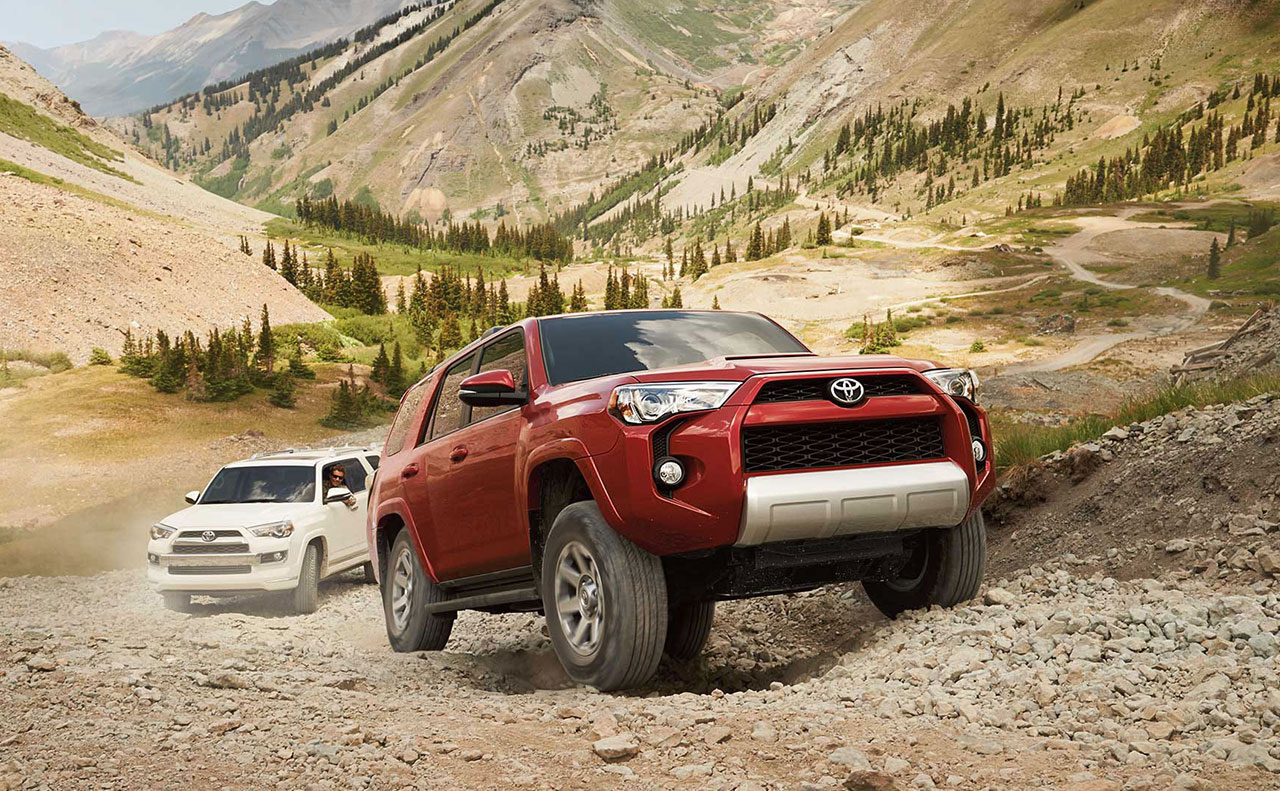 2016 toyota 4runner exterior off road red white front
