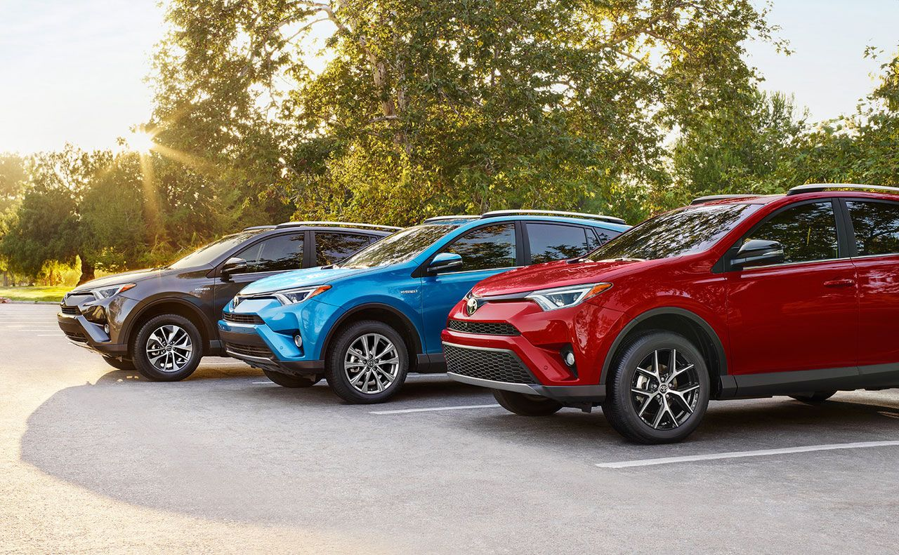 2017 toyota for black blue red