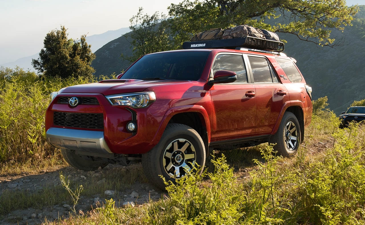2018 toyota 4runner exterior red driver side