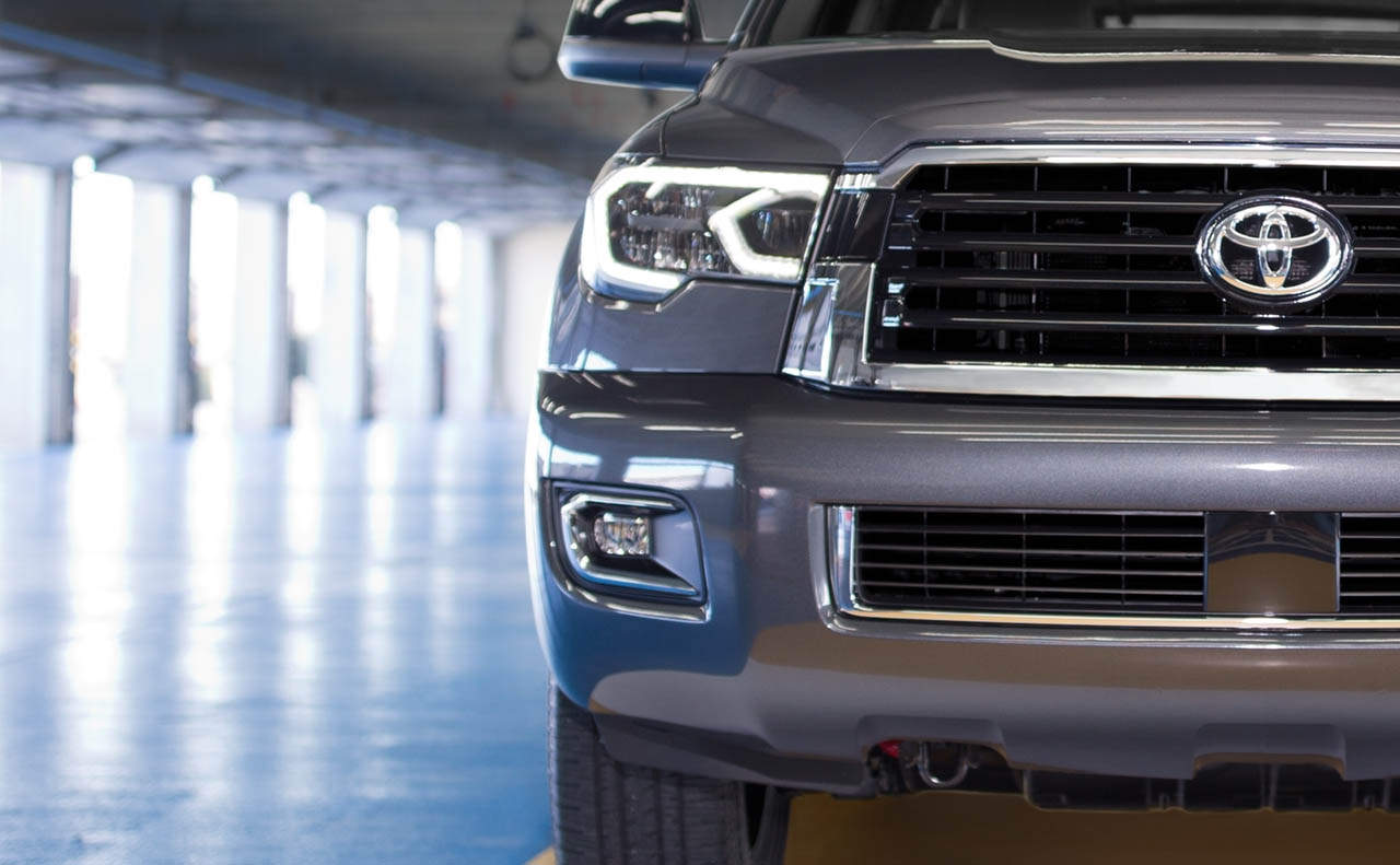 2018 toyota sequoia exterior grille lights tow hooks