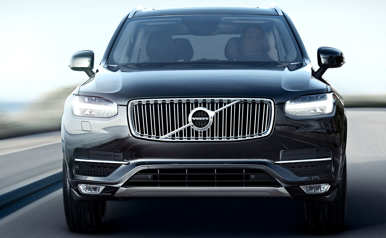 2016 volvo xc90 exterior. 2016 volvo xc90 exterior headlights fog lights grill front view side mirrors windshield hood