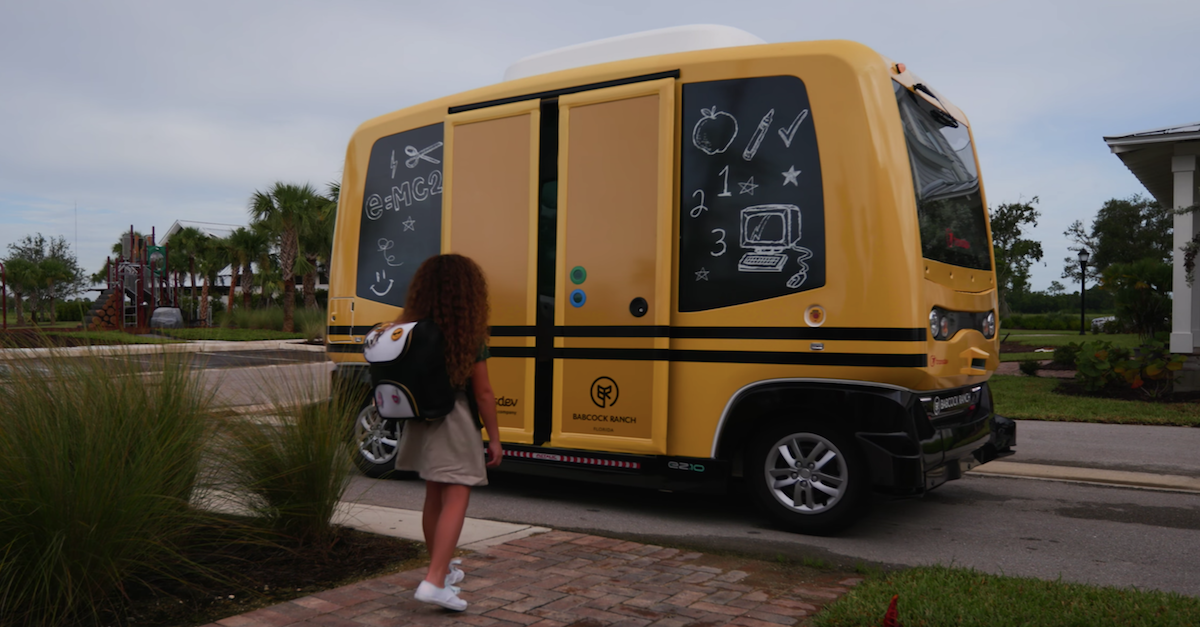 America's First Solar Powered Town Set To Test Autonomous School Bus