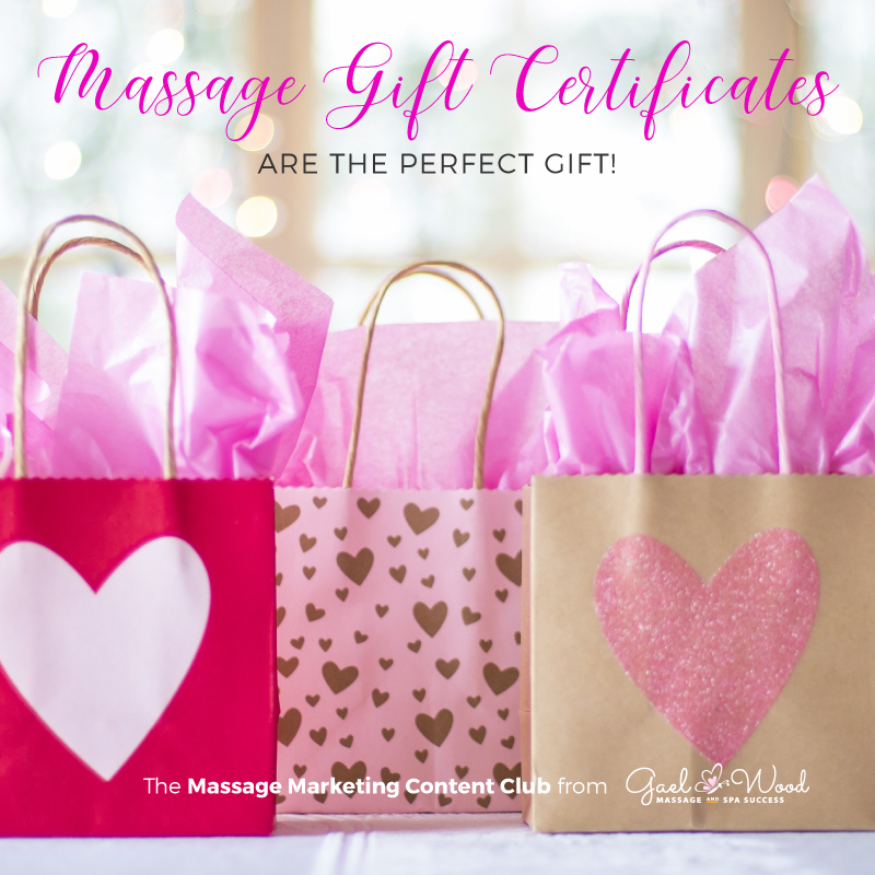 Massage Gift Certificates are the perfect gift!