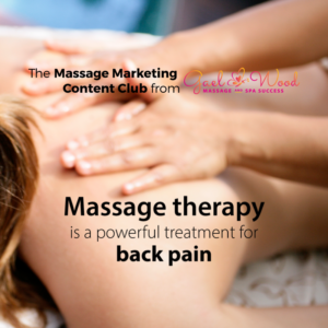 Marketing your massage business with CONTENT!