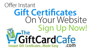 Printable Instant Gift Certificates - TheGiftCardCafe.com
