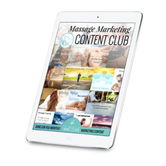 The Massage Marketing Content Club from Gael Wood