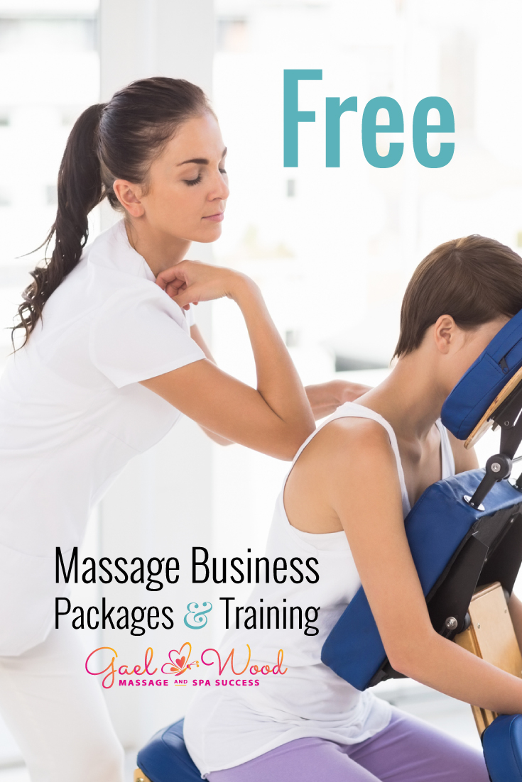 Free Massage Business Packages and Training from Gael Wood help massage therapists and estheticians learn new skills to grow their business, get social media marketing done and more. Get started today!
