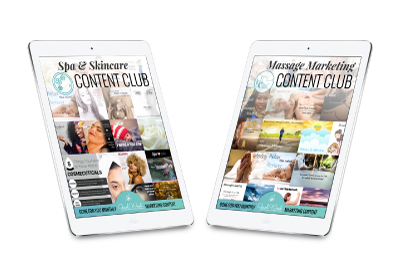 Massage and Spa Marketing Content Clubs from Gael Wood