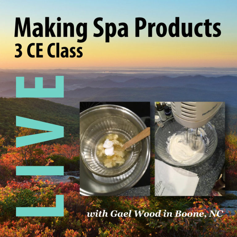 Making Your Own Spa Products Live 3 CE Class