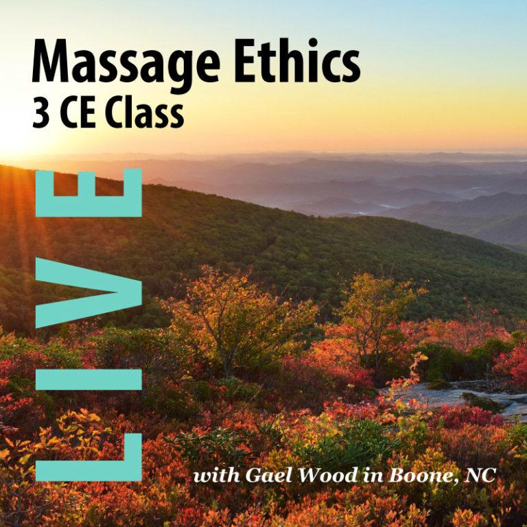 Massage Ethics 3 CE Live Class