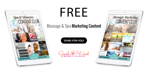 Get Your FREE Massage and Spa Marketing Content
