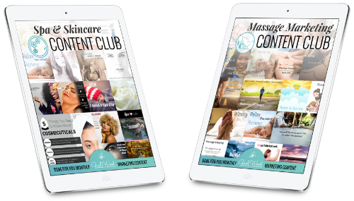The Marketing Content Clubs for Massage and Spa