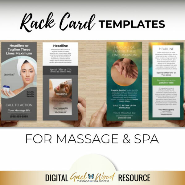 Rack Card Templates for Massage