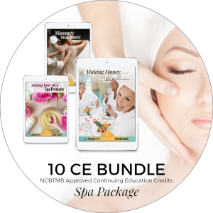 10 CE Bundle Spa Package Spring Sale includes Massage Enhancements, Making Money with Spa Parties, and Making Your Own Spa Products