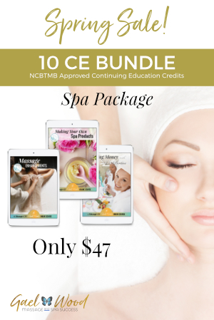 Spring Sale! Get the 10 CE Bundle Spa Package for Only $47 through March 24, 2019
