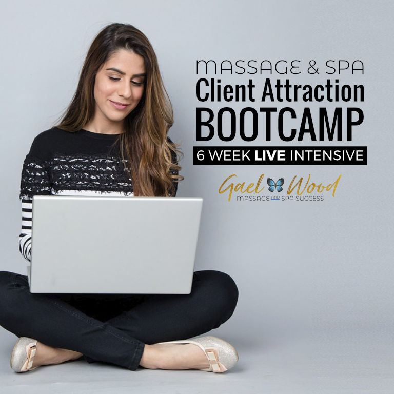 Massage and Spa Client Attraction Bootcamp 6 Week Live Intensive