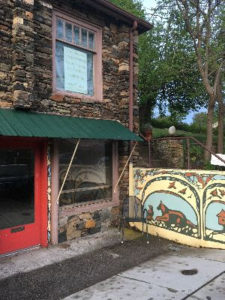 Storefront with murals