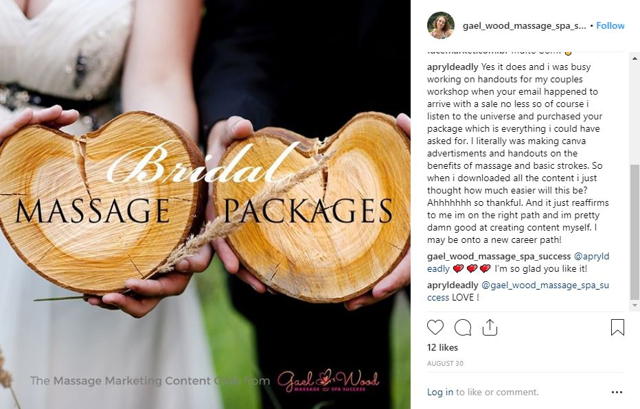 Massage and Spa Marketing Content Clubs | Gael Wood