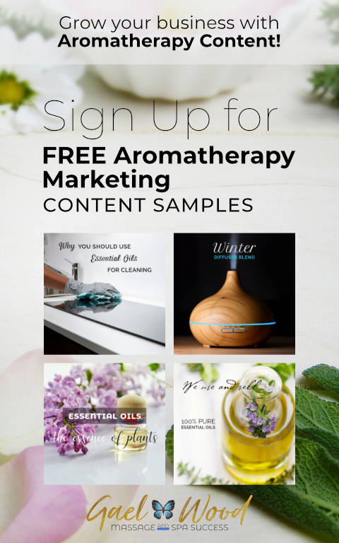Grow your business with Aromatherapy Content! Sign up for Free Aromatherapy Marketing Content Samples