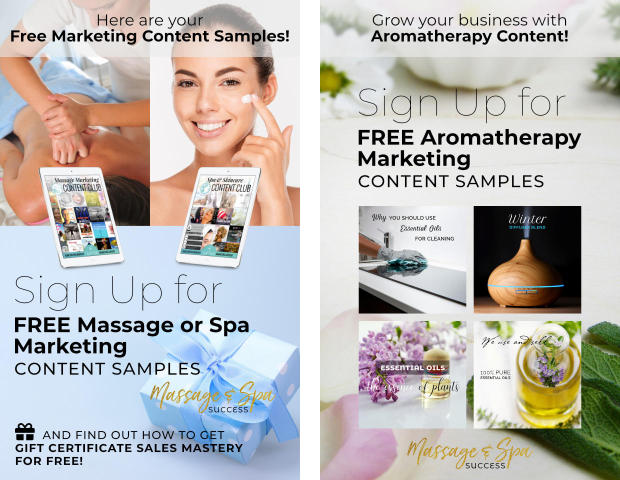 Free Gifts from Massage and Spa Success