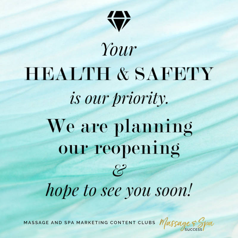 Your health and safety is our priority. We are planning our reopening and hope to see you soon!